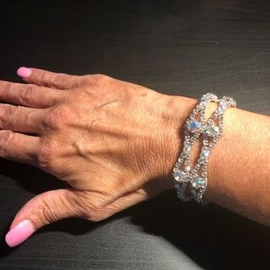 David's Bridal bracelet and earring set